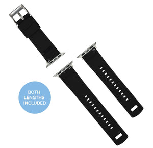 Apple Watch | Elite Silicone | Smoke Grey Top / Black Bottom Apple Watch Bands Barton Watch Bands