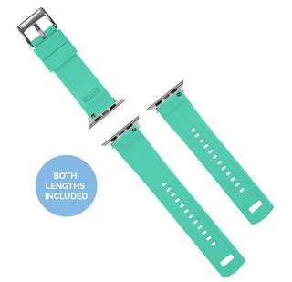 Load image into Gallery viewer, Apple Watch | Elite Silicone | Smoke Grey Top / Mint Green Bottom - Barton Watch Bands