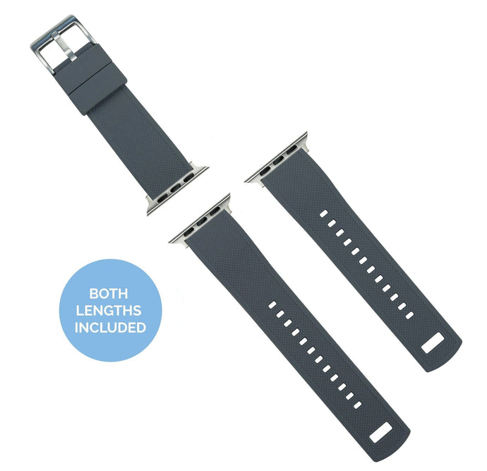 Apple Watch | Elite Silicone | Smoke Grey Top / Mint Green Bottom Apple Watch Bands Barton Watch Bands