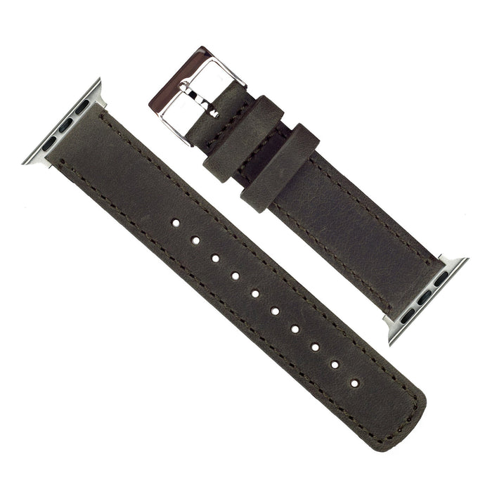 Apple Watch | Espresso Leather & Stitching Apple Watch Bands Barton Watch Bands
