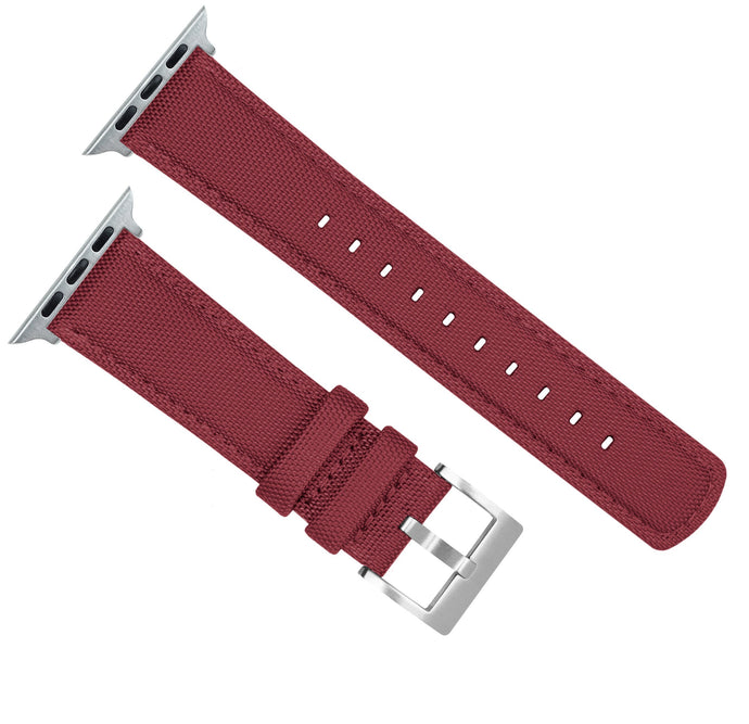 Apple Watch | Red Raspberry Sailcloth Apple Watch Bands Barton Watch Bands
