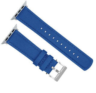 Load image into Gallery viewer, Apple Watch | Royal Blue Sailcloth Apple Watch Bands Barton Watch Bands