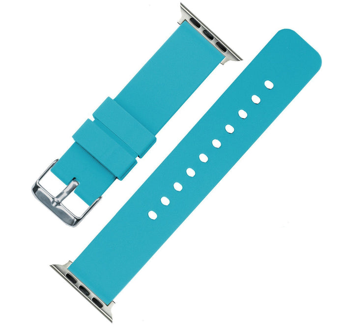 Apple Watch | Silicone | Aqua Blue Apple Watch Bands Barton Watch Bands