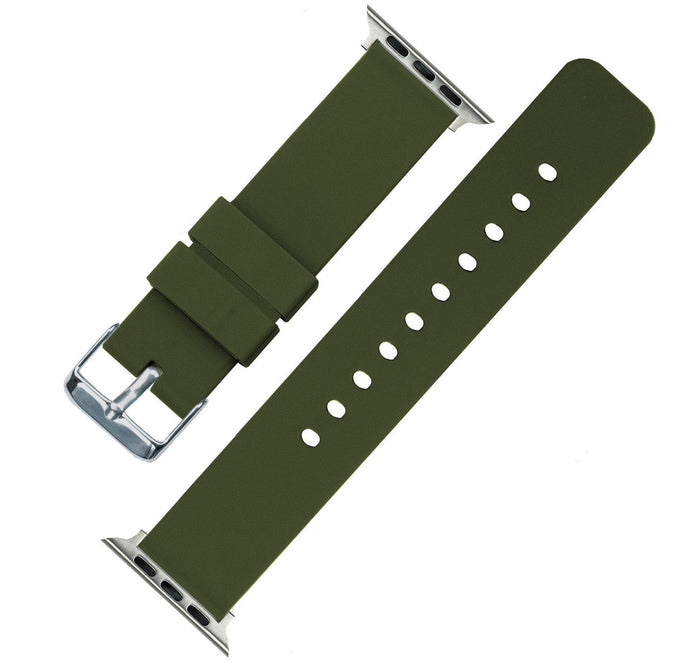 Apple Watch | Silicone | Army Green Apple Watch Bands Barton Watch Bands