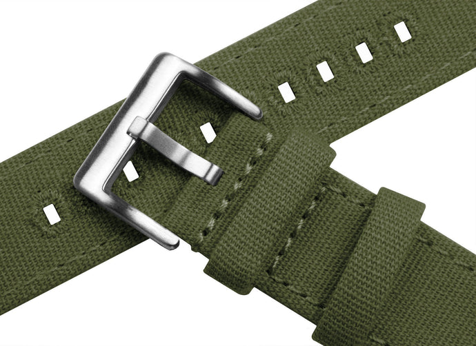 Army Green | Crafted Canvas Canvas Quick Release Barton Watch Bands