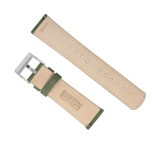 Army Green | Sailcloth Quick Release Sailcloth Quick Release Barton Watch Bands