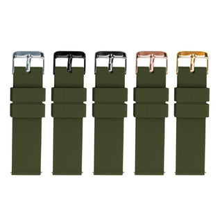 Load image into Gallery viewer, Army Green | Soft Silicone Quick Release Silicone Watch Band Barton Watch Bands
