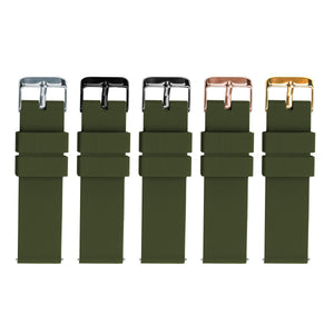 Army Green | Soft Silicone Quick Release Silicone Watch Band Barton Watch Bands