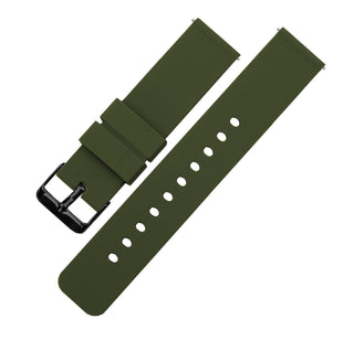 Load image into Gallery viewer, Army Green | Soft Silicone Quick Release Silicone Watch Band Barton Watch Bands 16mm Black