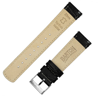 Load image into Gallery viewer, Black | Alligator Grain Leather Quick Release Leather Watch Bands Barton Watch Bands