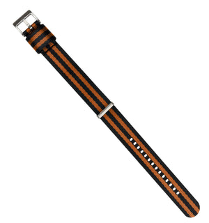 Load image into Gallery viewer, Black & Burnt Orange | Jetson NATO Style - Barton Watch Bands