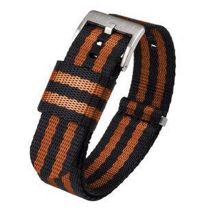 Load image into Gallery viewer, Black & Burnt Orange | Jetson NATO Style Jetson NATO Style Strap Barton Watch Bands