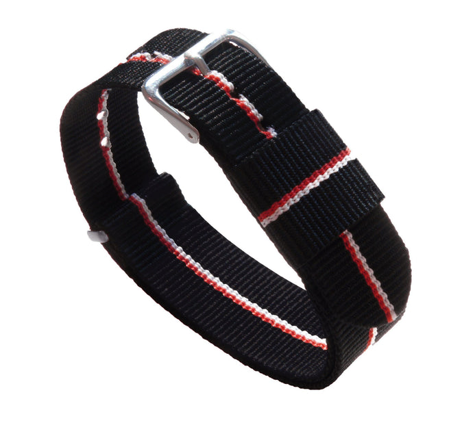Black, Cherry & Ivory | Nylon NATO Style NATO Style Nylon Strap Barton Watch Bands