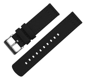 Black | Crafted Canvas - Barton Watch Bands