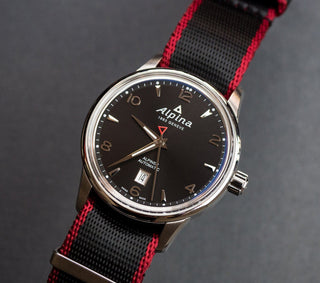 Load image into Gallery viewer, Black - Crimson Red Edges | Jetson NATO Style Jetson NATO Style Strap Barton Watch Bands