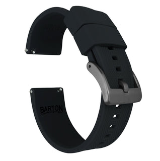 Load image into Gallery viewer, Black | Elite Silicone - Barton Watch Bands