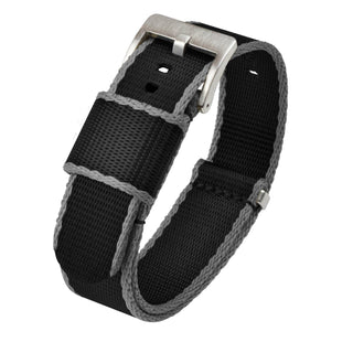 Load image into Gallery viewer, Black - Grey Edges | Jetson NATO Style Jetson NATO Style Strap Barton Watch Bands