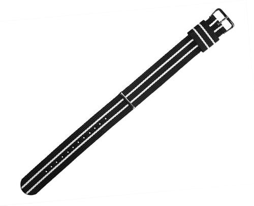 Black & Ivory | Nylon NATO Style - Barton Watch Bands