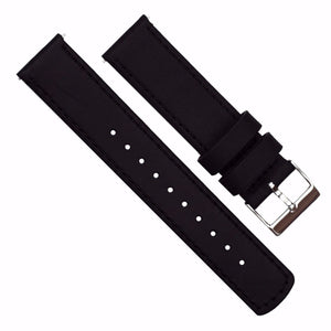 Black Leather | Black Stitching Quick Release Leather Watch Bands Barton Watch Bands