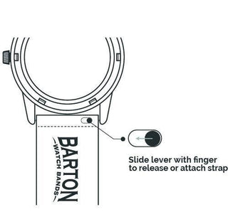Load image into Gallery viewer, Black Leather | Linen Stitching - Barton Watch Bands