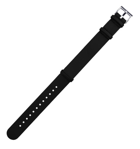 Black | Leather NATO Style Leather NATO Style Barton Watch Bands