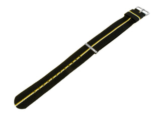 Load image into Gallery viewer, Black, Lemon & Ivory | Nylon NATO Style NATO Style Nylon Strap Barton Watch Bands