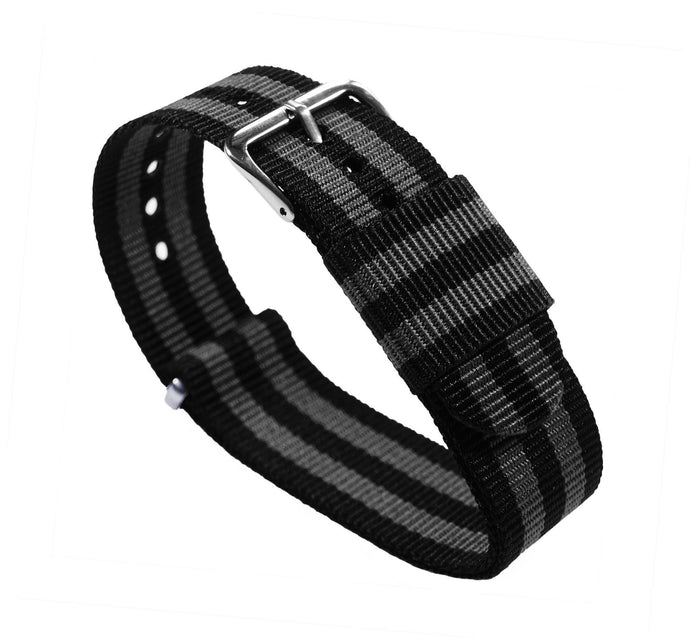 Black & Smoke (Bond) | Nylon NATO Style NATO Style Nylon Strap Barton Watch Bands