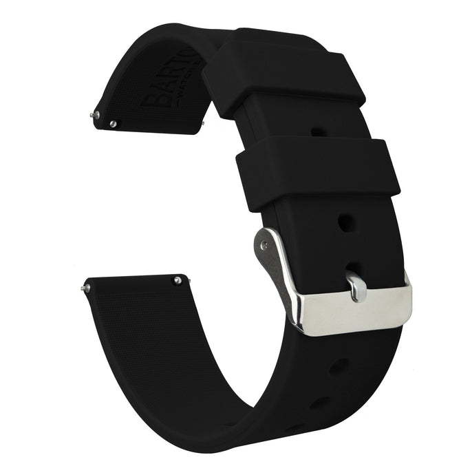 Black | Soft Silicone Quick Release Silicone Watch Band Barton Watch Bands