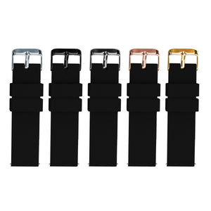Black | Soft Silicone - Barton Watch Bands