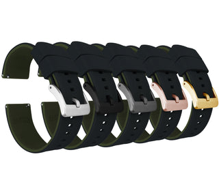 Load image into Gallery viewer, Black Top / Army Green Bottom | Elite Silicone Elite Silicone Barton Watch Bands