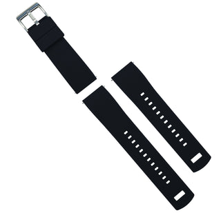 Load image into Gallery viewer, Black Top / Crimson Red Bottom | Elite Silicone Elite Silicone Barton Watch Bands