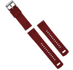 Black Top / Crimson Red Bottom | Elite Silicone Elite Silicone Barton Watch Bands