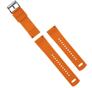 Black Top / Pumpkin Orange Bottom | Elite Silicone - Barton Watch Bands