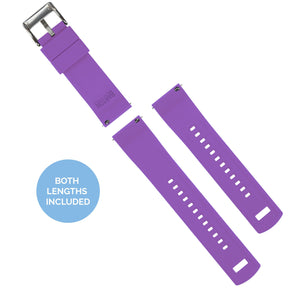 Black Top / Purple Bottom | Elite Silicone Elite Silicone Barton Watch Bands