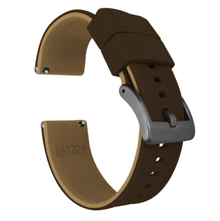 Load image into Gallery viewer, Brown Top / Khaki Bottom | Elite Silicone - Barton Watch Bands