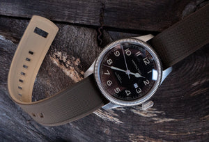 Brown Top / Khaki Bottom | Elite Silicone - Barton Watch Bands