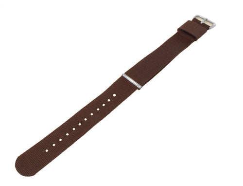 Chocolate Brown | Nylon NATO Style NATO Style Nylon Strap Barton Watch Bands
