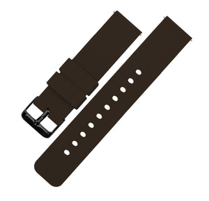 Chocolate Brown | Soft Silicone Quick Release Silicone Watch Band Barton Watch Bands 16mm Black