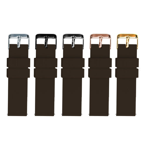 Chocolate Brown | Soft Silicone - Barton Watch Bands