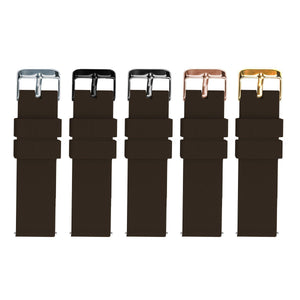Chocolate Brown | Soft Silicone Quick Release Silicone Watch Band Barton Watch Bands