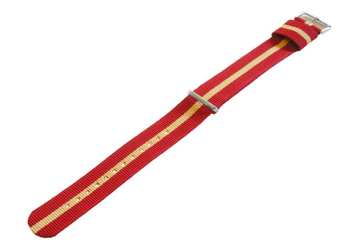 Crimson & Khaki | Nylon NATO Style - Barton Watch Bands