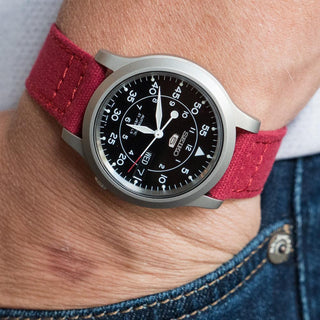 Load image into Gallery viewer, Crimson Red | Crafted Canvas - Barton Watch Bands