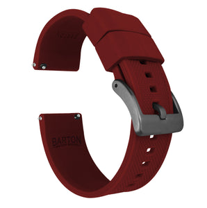 Crimson Red | Elite Silicone - Barton Watch Bands