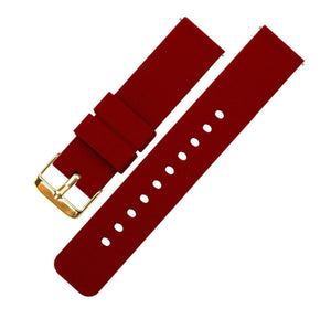 Crimson Red | Soft Silicone - Barton Watch Bands