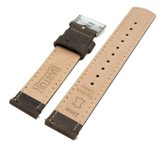 Load image into Gallery viewer, Espresso Leather | Espresso Stitching Quick Release Leather Watch Bands Barton Watch Bands