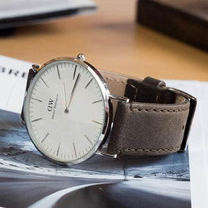 Espresso Leather | Espresso Stitching Quick Release Leather Watch Bands Barton Watch Bands