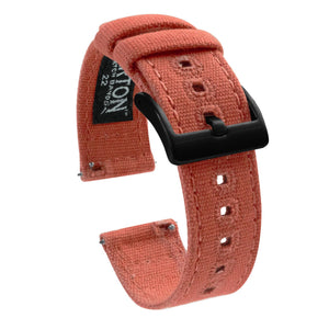 Fossil Gen 5 | Autumn Canvas Fossil Gen 5 Barton Watch Bands Black PVD