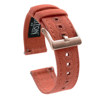 Load image into Gallery viewer, Fossil Gen 5 | Autumn Canvas Fossil Gen 5 Barton Watch Bands Rose Gold