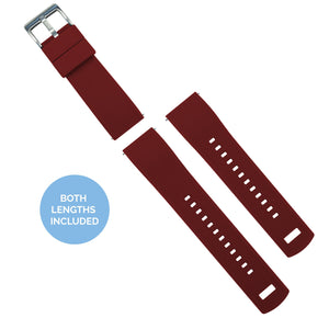 Fossil Gen 5 | Elite Silicone | Crimson Red Fossil Gen 5 Barton Watch Bands