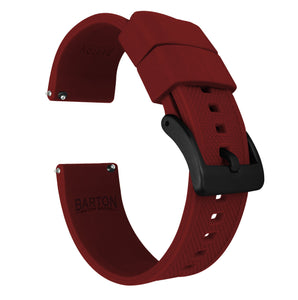 Fossil Gen 5 | Elite Silicone | Crimson Red Fossil Gen 5 Barton Watch Bands Black PVD